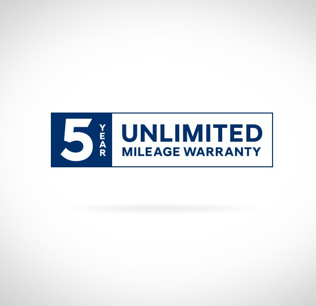 5 Year unlimited mileage warranty